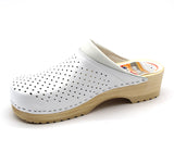 LEON B2M Leather Clogs for Men - White