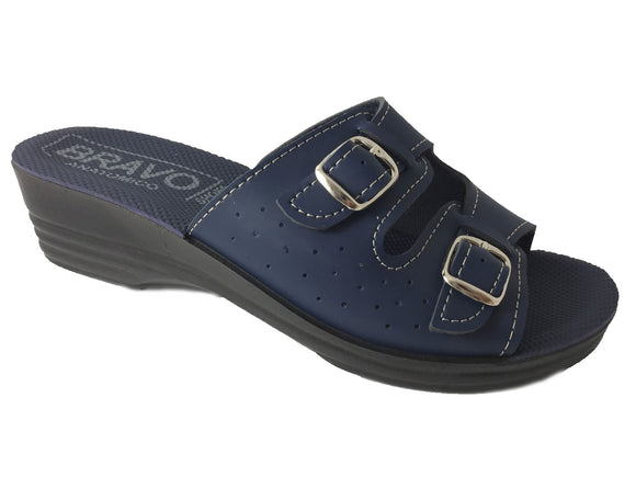 BRAVO 203-3 Sandal Clogs for Women - Blue