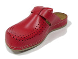 Dr Punto Rosso BRIL Y77 Leather Clogs for Women - Red