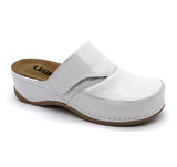 LEON 2019 Leather Clogs for Women - White