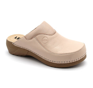 LEON 3100 Leather Clogs for Women - Nude