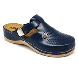 LEON 900 Leather Clogs for Women - Blue