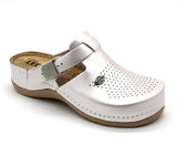 LEON 900 Leather Clogs for Women - Pearl
