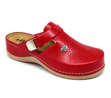 LEON 900 Leather Clogs for Women - Red