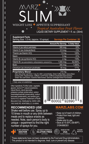 MARZ+® SLIM SPRAY - Appetite Suppressant