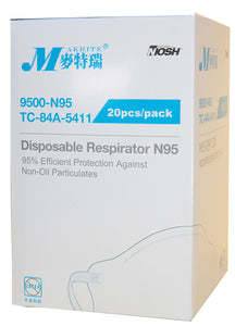 N95 Surgical Particulate Respirators (20 Pieces)   cleared by FDA and approved by NIOSH