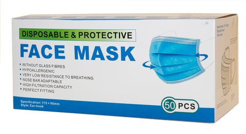 One-Time Disposable EarLoop Face  Mask (50PCS)