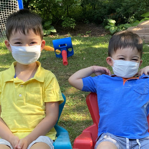 Kids wearing standard mask