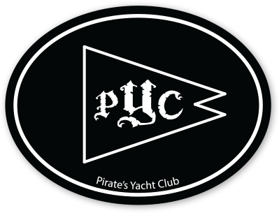 """PYC"" Pennant Oval Sticker"