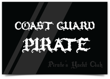 """Coast Guard Pirate"" Sticker"