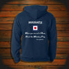"""WHISKEY: When you are out of Rum, Hoist the Whiskey Flag"" Hooded Sweatshirt"