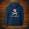 """CG Stripe Skull & Crossbones"" Hooded Sweatshirt"