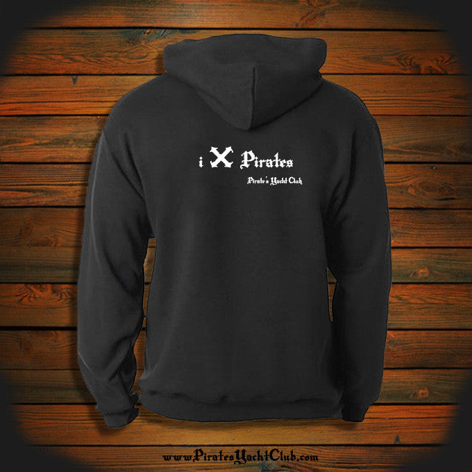 """i X Pirates"" Hooded Sweatshirt"