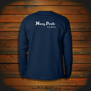 """Navy Pirate"" Long Sleeve"