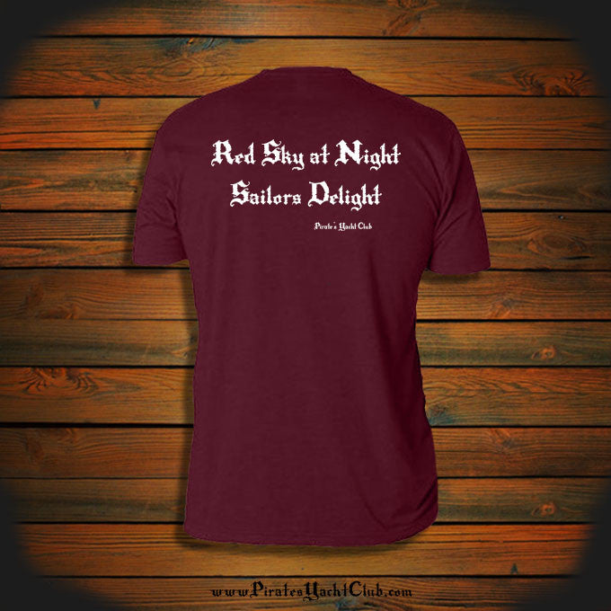 """Red Sky at Night, Sailor's Delight"" T-Shirt"