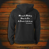 """Money for Nothing, Ships for Free, A Pirate's Life for me"" Hooded Sweatshirt"