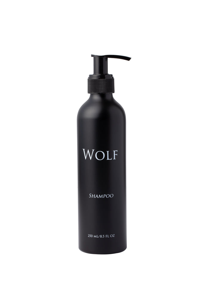 unscented 100% natural shampoo in an aluminum bottle