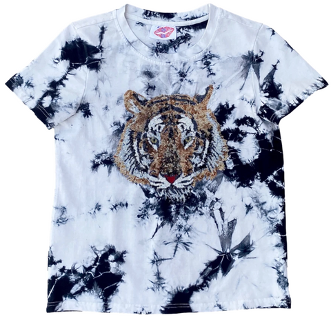 Acid Wash Tiger Head Tee