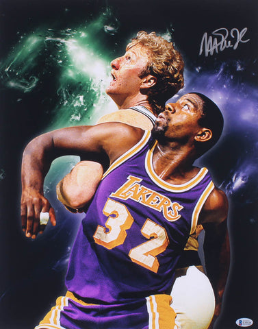Magic Johnson Lakers Signed 16 x 20