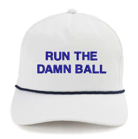 Run The Damn Ball Rope Hat Blue/White