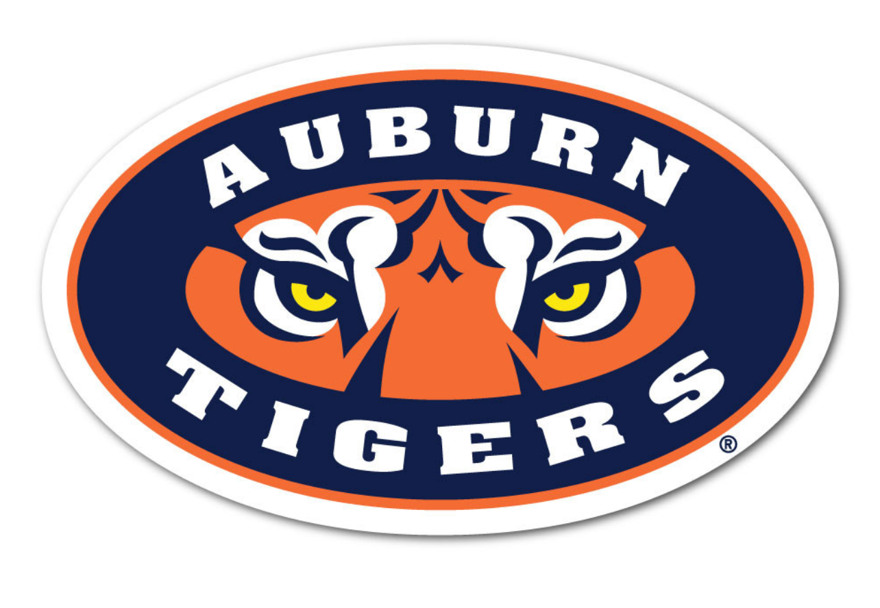 "Auburn Tigers 3"" Collegiate Decal"