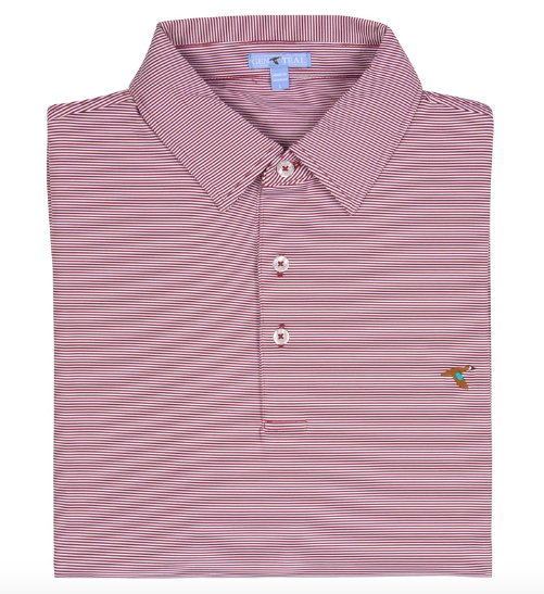 Clay Pinstripe Polo