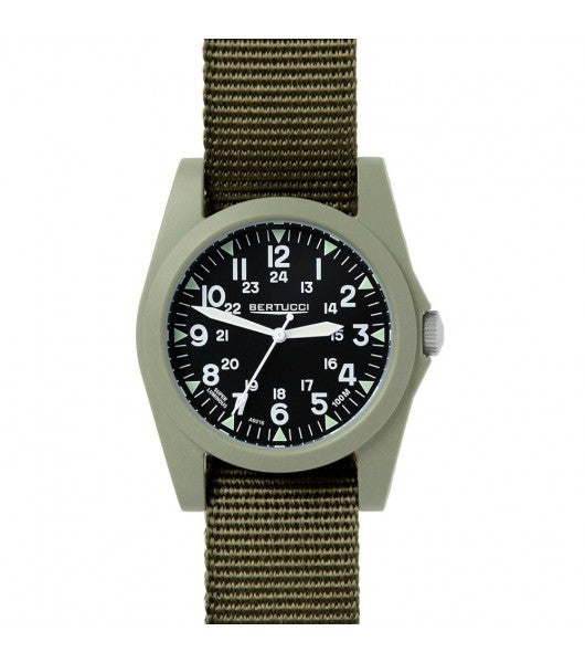 A-3P Sportsman Vintage Black Dial Olive Case - #123 Defender Olive Band