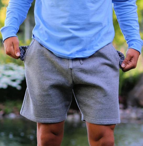 Dk Heather Fleece Short
