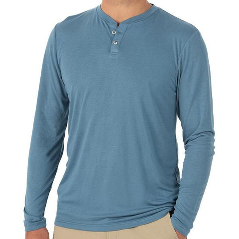 Bamboo Cruiser Henley Atlantic Blue