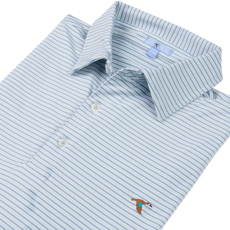 Freeport Stripe Polo Seagrass