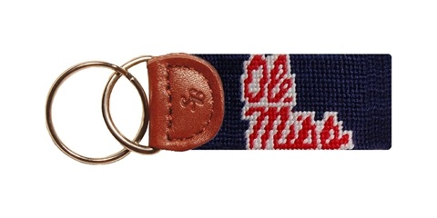 Ole Miss Key Fob Navy