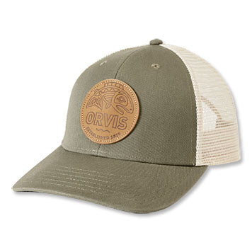 Cascadia Leather Patch Trucker