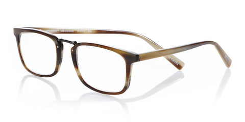Mensch Brown Horn w/ Gunmetal Bridge Readers