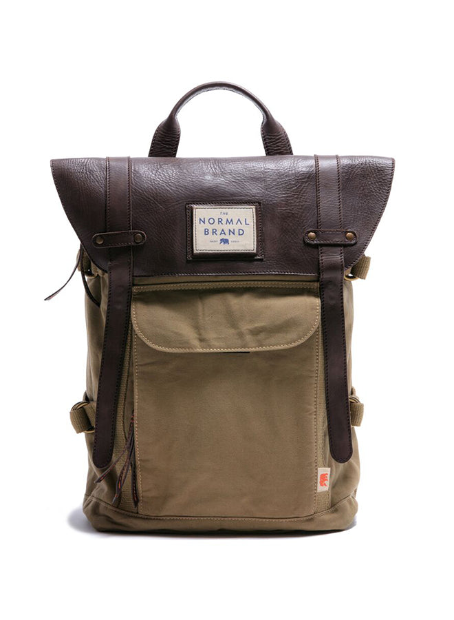 Top Side Backpack Tan