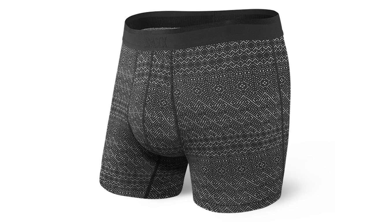 Platinum Boxer Brief Black Pattern Band M