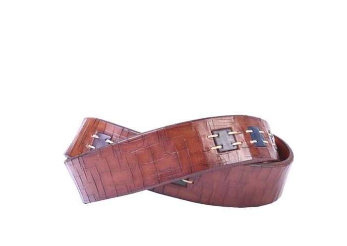 Artisan Inlay Chestnut Belt