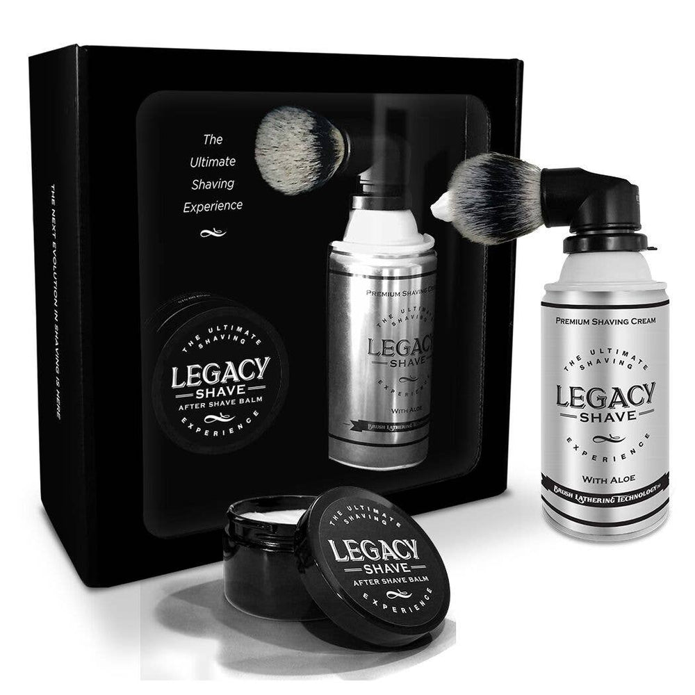 Legacy Shave Brush and After Shave Balm Gift Set