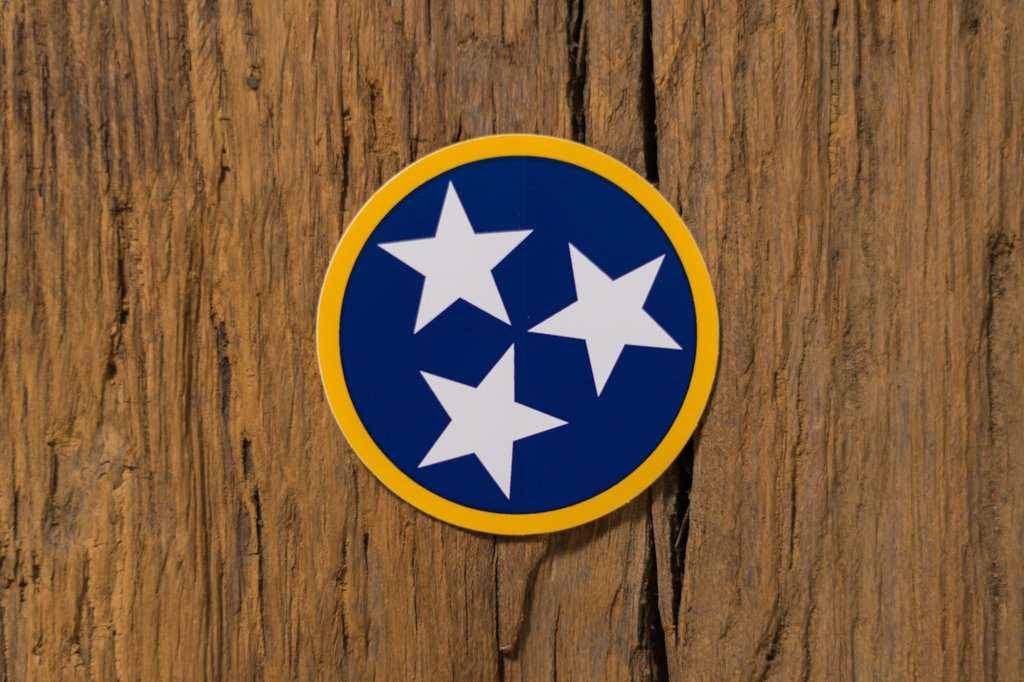 Navy/Gold Tristar Sticker