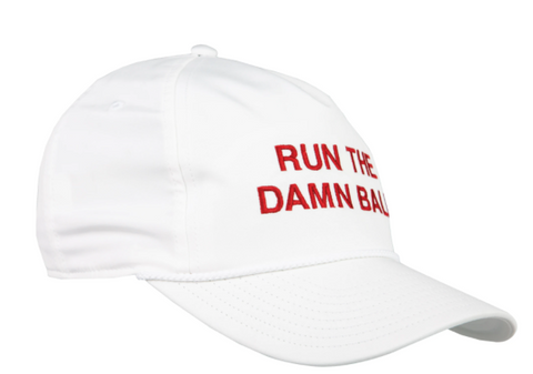 Run The Damn Ball Rope Hat White/Crimson