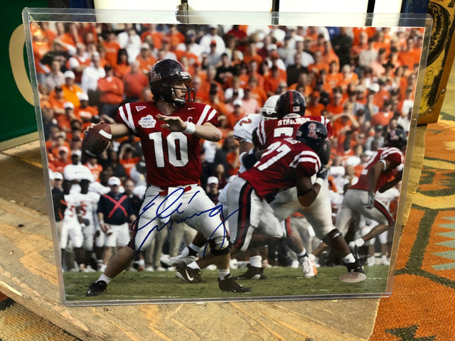 Eli Manning Ole Miss 8x10 Signed Photo