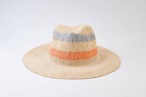 South Beach Color Stripe Straw Hat