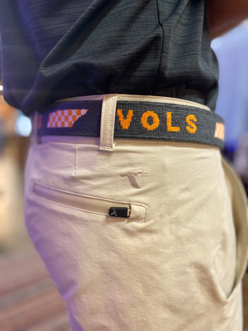 Vols Checker Belt Charcoal