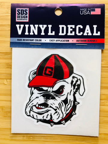 "Georgia Bulldog 3"" Collegiate Decal"