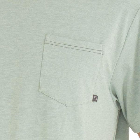 Flex Pocket Tee Heather Keys Green
