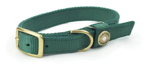 Huntsman Dog Collar Hunter Green 17""