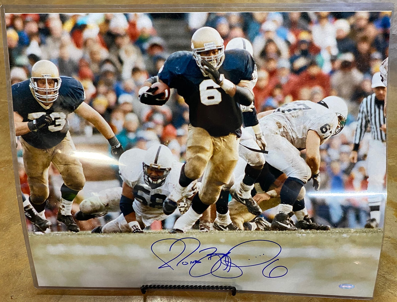 Jerome Bettis Notre Dame 16X20 Signed Photo