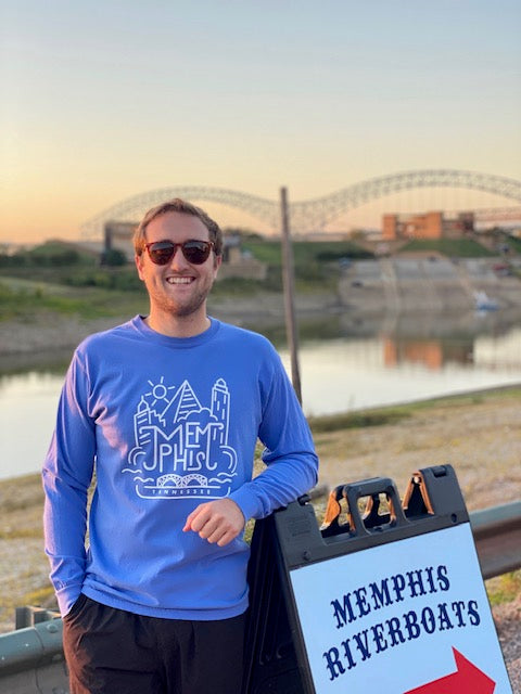 Downtown Memphis L/S Blue