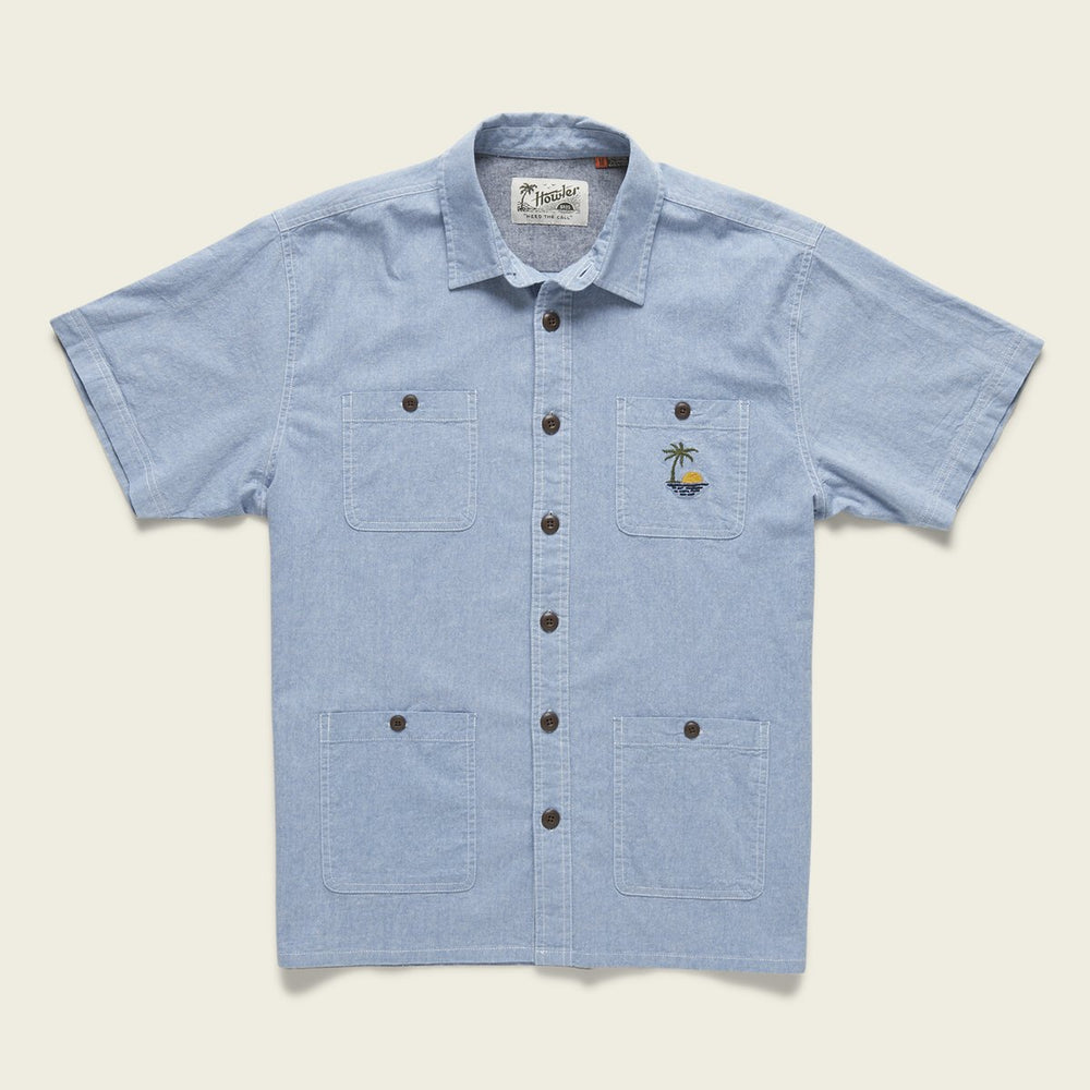 Voyager Sapphire Blue Chambray Shirt