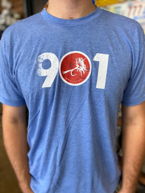 901 Fly Logo Tee Vintage Blue