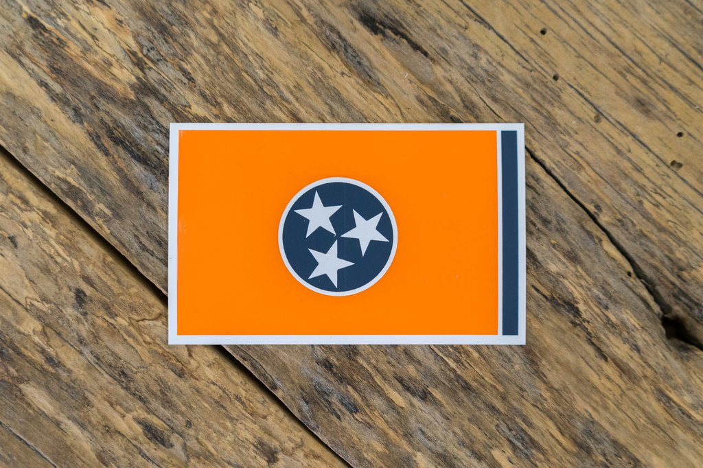 Orange Tennessee Flag Sticker